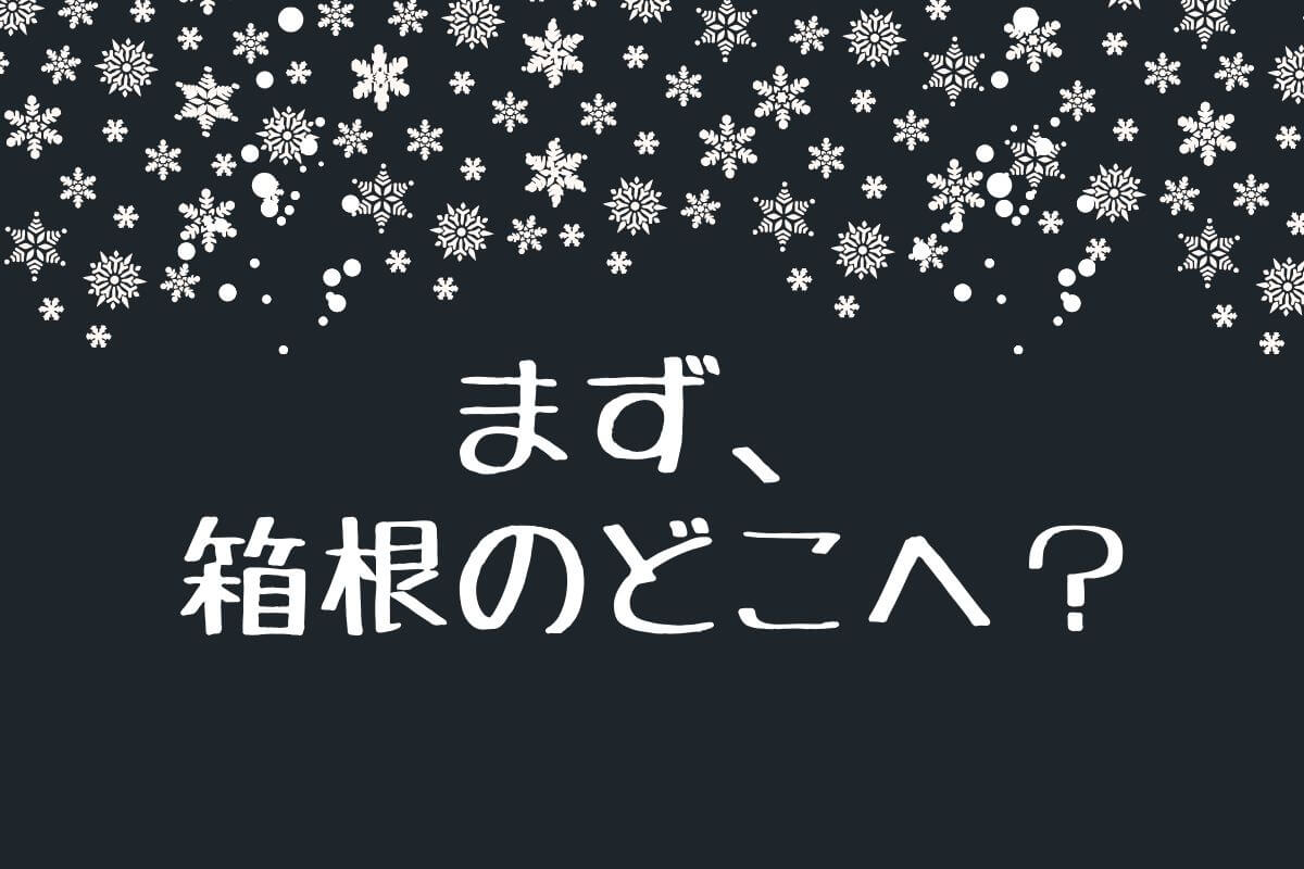 箱根の天気が雪、どこへ行く?