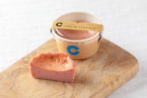 バスクチーズケーキのイチゴ
