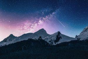 上高地の夜空イメージ