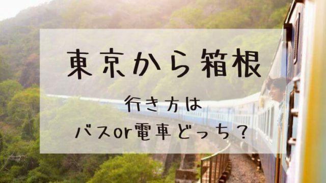 東京から箱根への行き方