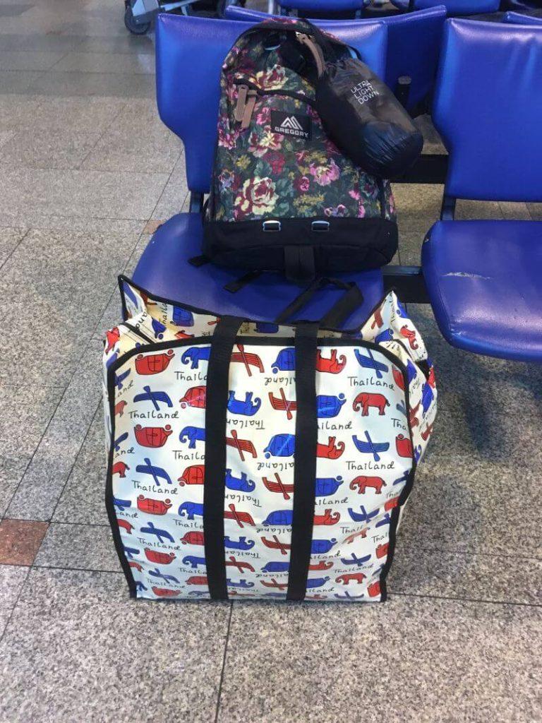 グレゴリーのバッグパックとタイのバッグ