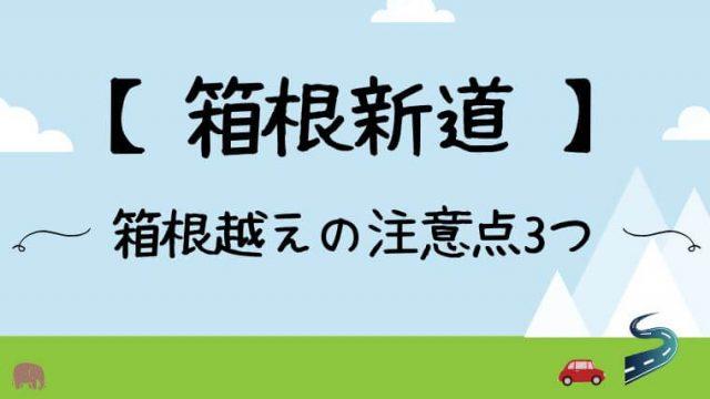 箱根新道は有料ではなく無料。坂が怖いです