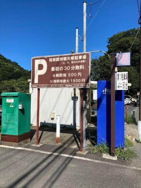 箱根臨時観光駐車場は休日のみ