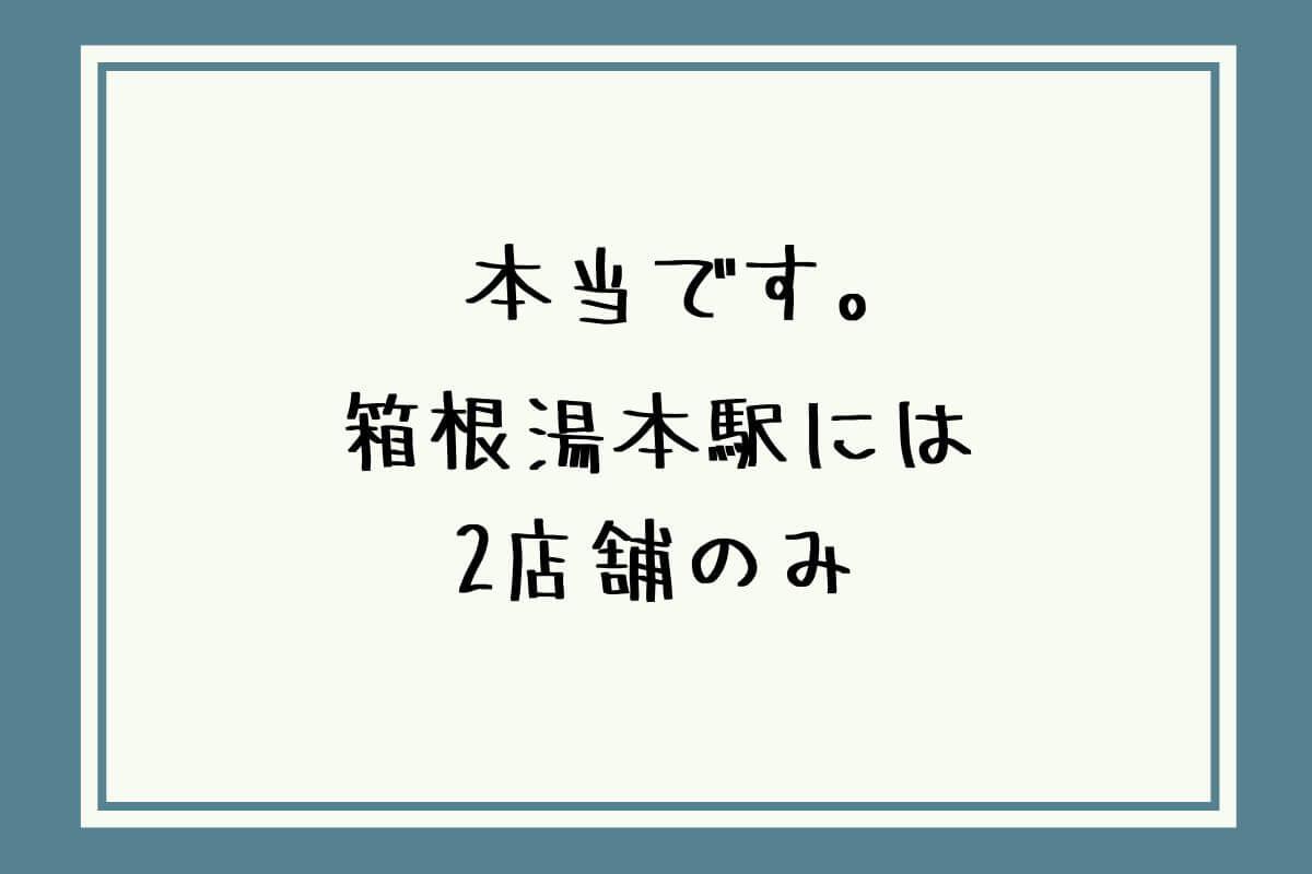 箱根でレンタカーは箱根湯本駅の2店舗で!